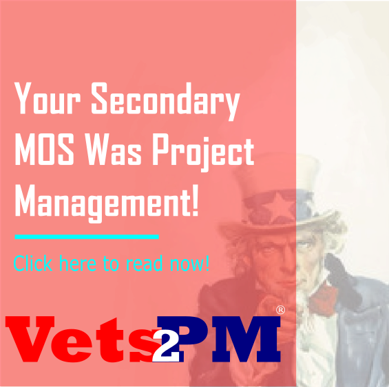 Your Secondary MOS Was Project Management!